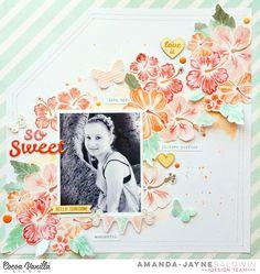 Cocoa Vanilla Studio : Endless Summer collection : So Sweet layout by Amanda Baldwin