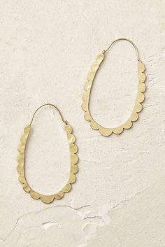 Celeste Scalloped Hoop Earrings