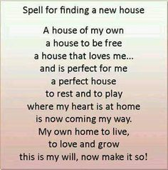 Spell to find a house