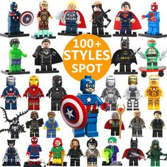 100 Styles SingleSale DC Marvel Super Heroes Avengers Star Wars Ninja Batman Minifigures Model Building Blocks Kids Toys Gifts #>=#>=#>=#>=#> Click on the pin to check out discount price, color, size, shipping, etc. Save and like it!