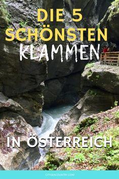 Die 5 schönsten Klammen in Österreich Rafting, Zell Am See, Reisen In Europa, Where To Go, Travel Destinations, Hiking, Europe, Places, Seen