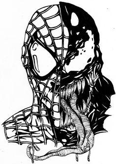 Venom Coloring Pages Printable Beautiful Black Spiderman Coloring Venom Spiderman, Spiderman Tattoo, Spiderman Drawing, Spiderman Coloring, Black Spiderman, Marvel Tattoos, Marvel Venom, Marvel Comics, Marvel Art
