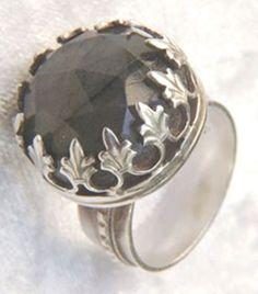 Woman silver ring, Labradorite ring, 925 silver sterling ring, Free shipping, Big ring, Queen ring, Handmade silver, Big ring, Woman ring by MaliKedem on Etsy