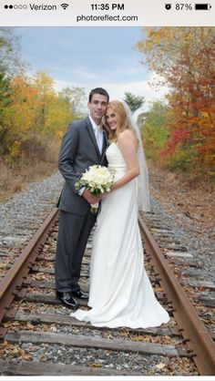 Wedding photo idea -- we will have train track there! Perfect! Also need pics in front of the old locomotive!
