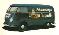 Vintage Volkswagen logo buses