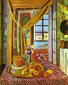 Interior com fonógrafo por Henri Matisse (1869-1954, France)