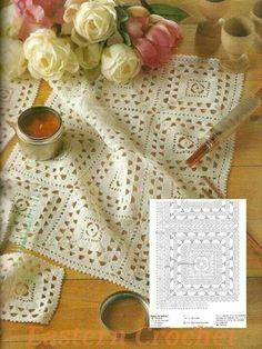 Unit crochet pattern home blanket