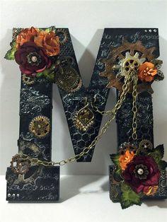 "Altered Letter ""m"" …as in Monica Altered Letter ""M""…as in Monica – ButterBeeScrapsButterBeeScraps The post Altered Letter ""m"" …as in Monica appeared first on Crafts. Alphabet Letter Crafts, Letter Art, Letter Tracing, Button Art, Button Crafts, Arma Steampunk, Diy And Crafts, Arts And Crafts, Geek Crafts"