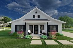 Plan No.581226 House Plans by WestHomePlanners.com Simple House Plans, Country House Plans, Tiny House Plans, House Floor Plans, Cottage House Plans, Guest House Plans, Garage House Plans, Cabin Plans, Modern Farmhouse Plans