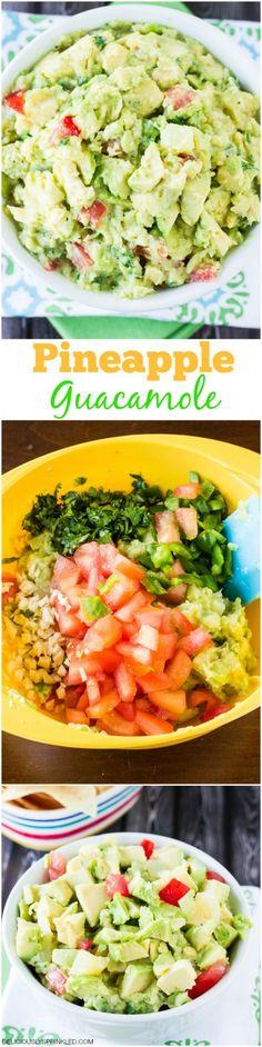 Pineapple Guacamole | deliciouslysprinkled.com | #guacamole #recipe #pineapple