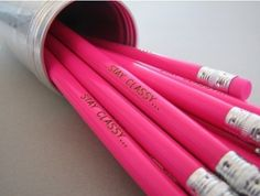 Stay Classy Hot Pink Pencils