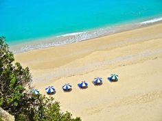 Diagonal view of Egremni beach, Lefkada
