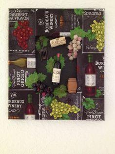 Chalkboard &  Wine Fabric Wall Art by RelaxandWineDown on Etsy
