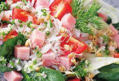 Salată cu grâu încolţit Mexican, Ethnic Recipes, Food, Ham, Essen, Meals, Yemek, Mexicans, Eten