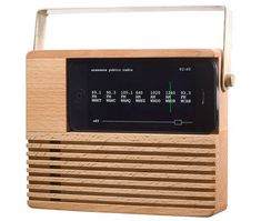 Retro-style iPhone Radio Dock by Areaware.  How cool!