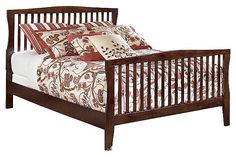 "The Rayville Panel Bed from Ashley Furniture HomeStore (AFHS.com). The ""Rayville"" bedroom collection creates a stylish contemporary furniture collection with the unique shaped pilasters complementing the rich stained finish and accenting nickel color finished hardware all brought together with numerous bed options that are sure to please any age group."
