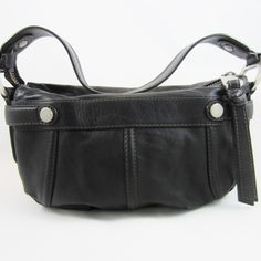 Fossil Lovely Black Leather Handbag Dust Bag Included MINT