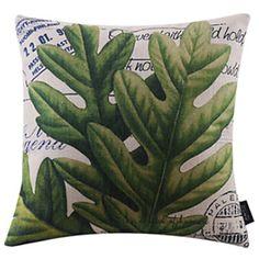 Pozostawia styl Dziewięć Cotton / Linen dekoracyjne poduszki pokrywy – EUR € 12.37