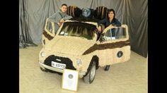 An Italian hairdresser has set a new Guinness World Record by covering her Fiat 500 in human hair – ... - Newscom