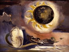 Surrealist painter and war artist Paul Nash (British: 1889 - - Eclipse of the Sunflower Your Paintings, Landscape Paintings, Landscape Art, Georges Pompidou, Tate Gallery, Sunflower Art, Max Ernst, Mystique, Magritte