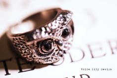 Owl Ring . Silver color . Size 7 . Adorable    This ring is just so cool!    This item will be packed in a beautiful organza jewelry pouch.    To