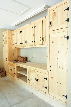Iu0027m Kind Of In Love With These Garage Cabinets   Maybe A Great DIY Project?