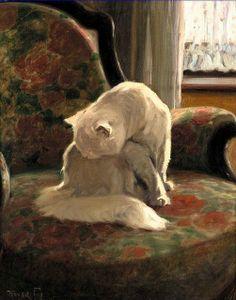 Lavant son Manteau. (Arthur Heyer. 1912).