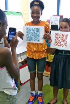 QR codes are easy to use and add interest and technology use to any lesson. QR stands for Quick Response and they are a scannable image tha...