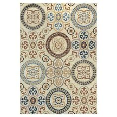 Rizzy Home Carrington Polypropylene Rug In Ivory Color 5'3 inch x 7'7 inch, Beige