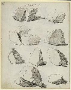 Study of Rocks Casper David Friedrich (1774-1840) Collection of Kupferstichkabinett (SMPK) - Berlin