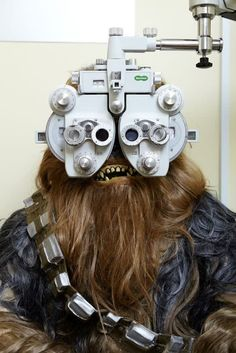 Chewbacca understands the importance of regular eye tests to ensure his eyesight is at its best.