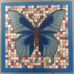 Jude Bug Butterfly - cut vinyl mosaic
