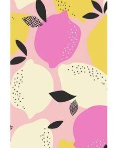 Pink and yellow graphic lemon background illustration Rosa und gelbe grafische Zitronenhintergrundillustration Backgrounds Wallpapers, Cute Wallpapers, Food Backgrounds, Trendy Wallpaper, Colorful Backgrounds, Surface Pattern Design, Pattern Art, Fruit Pattern, Textures Patterns