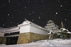 """""""2014年、冬至。会津は今夜も雪が降り続いています。 会津若松鶴ヶ城。  #snow #japan""""    Aizu Fukushima"""