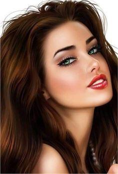 Beautiful Girl Drawing, Beautiful Girl Image, Cartoon Girl Images, Girl Cartoon, Fantasy Art Women, Fantasy Girl, Beauty Art, Beauty Women, Chica Fantasy