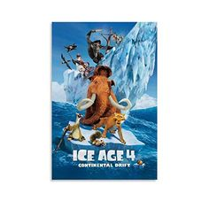 Wall Art Pictures, Print Pictures, Ice Age 4, Ice Age Movies, Modern Family, Canvas Art Prints, Bedroom Decor, Animation, Poster Prints