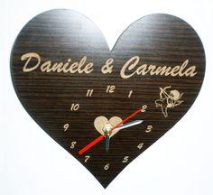 orologi personalizzati in legno o plexiglass di laserclock su Etsy