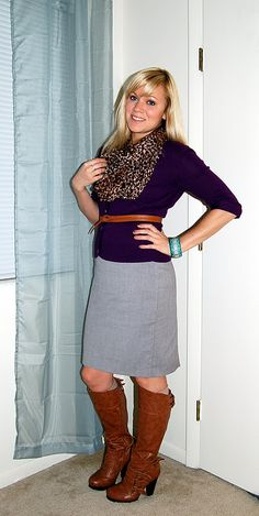 I need a leopard scarf!  Already have the boots, dress and cardigan.... :)