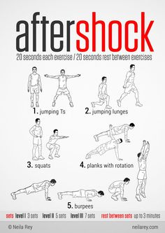 Aftershock Workout 100 no-equipment workouts by Neila Rey