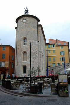 The tower, all that remains of a Knights Templar lodge, Place Masillion, Hyeres old town.