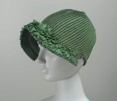 Bonnet, early 19th century, silk - in the Museum of Fine Arts Boston.