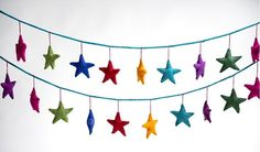 Fair Trade Rainbow Star felt garland made in Nepal - perfect to add some colour to your teepee or your nursery! Star Garland, Felt Garland, Childrens Room Decor, Playroom Decor, Rainbow Star, Rainbow Colors, Rainbow Nursery, Grey Elephant, Children's Boutique