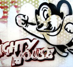 MIGHTY MOUSE  Original Painting Graffiti Style Pop Art on by thefactory101, $45.00