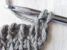 Hekel Idees: Tunisiese Hekel: Driehoek Serp Afrikaans, Crochet Patterns, Crochet Pattern, Crochet Tutorials, Crocheting Patterns, Crochet Stitches Patterns