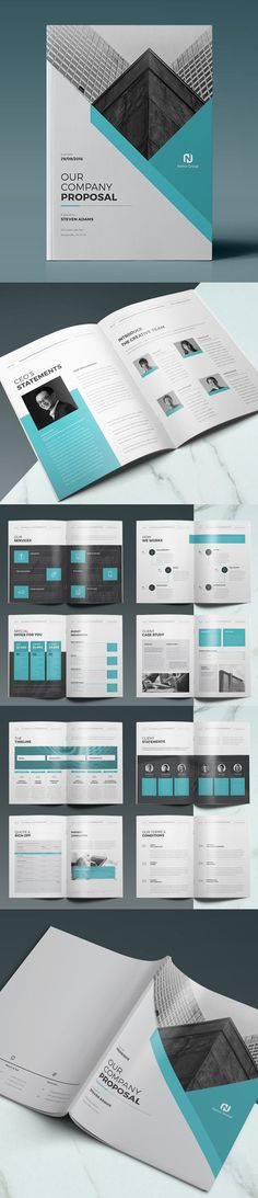 Blue Company Brochure Brochure template, Letter size and Brochures - best proposal templates