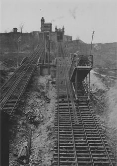 """Price Hill inclined plane railway from """"Art Work of Cincinnati,"""" published in Cincinnati Attractions, Cincinnati Skyline, Scale Model Architecture, Inclined Plane, Places Of Interest, West Hollywood, Historical Photos, American History, Kentucky"""