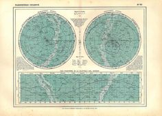 Star Chart Astronomy Constellations Map Celestial by carambas, $35.00