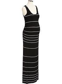 Maternity Striped Jersey Maxi Dresses