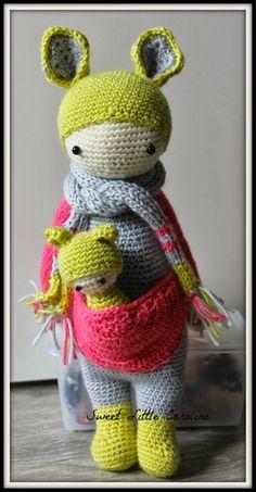 KIRA the kangaroo made by sweetlittlecaro / crochet pattern by lalylala
