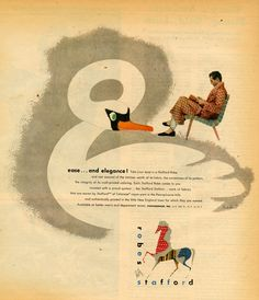 INCREDIBLE RARE ADS BY THE GRAPHIC DESIGN MASTER HIMSELF, PAUL RAND!!!!